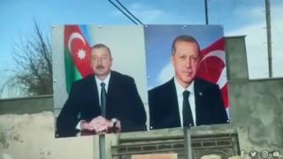 Aliyev'in Şuşa gezisinde Türk bayrağı ve Erdoğan detayı