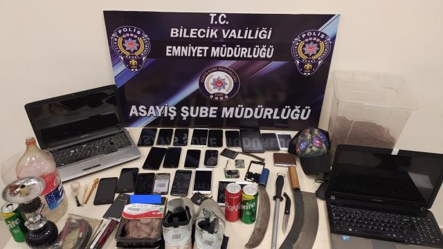 Bilecikte 6 iş yerinden hırsızlık yaptığı iddia edilen zanlı tutuklandı