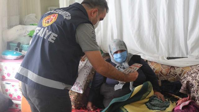 Gaziantep'te vatandaşlar soba zehirlenmelere karşı bilgilendirildi