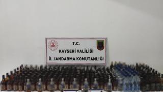 Kayseri'de 360 litre kaçak içki ele geçirildi