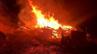 Karabük'teki yangında bir ev kullanılamaz hale geldi