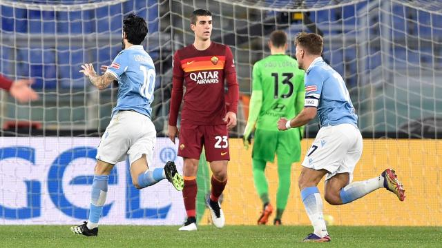 Roma derbisinde kazanan Lazio - Son Dakika Haberleri