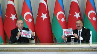 Cumhurbaşkanı Erdoğan İlham Aliyev ile görüştü