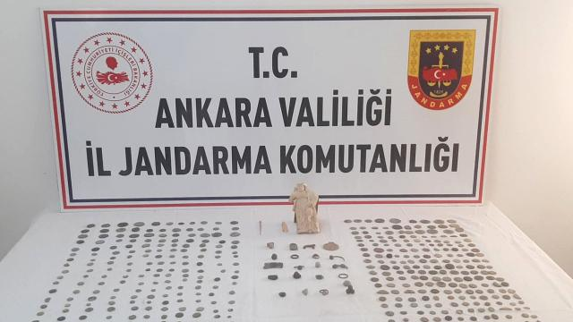 Ankarada tarihi eser operasyonu: 2 gözaltı