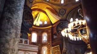 Ayasofya Camii'nin hat levhaları restore ediliyor