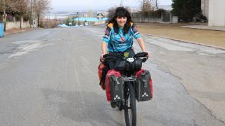 Dünya turundaki Brezilyalı bisikletçi Beyşehir'de