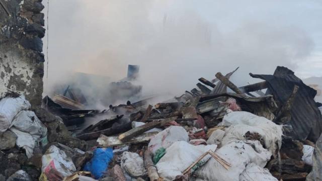 Çankırıda yangın: 1 ev kullanılamaz hale geldi