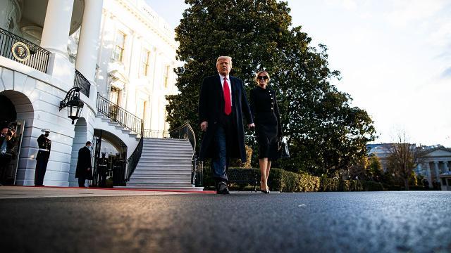 Donald Trump Beyaz Saraydan ayrıldı