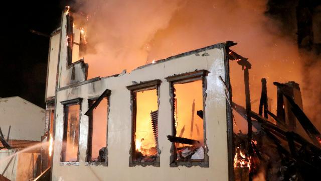 Edirne Müftülüğü binasında yangın