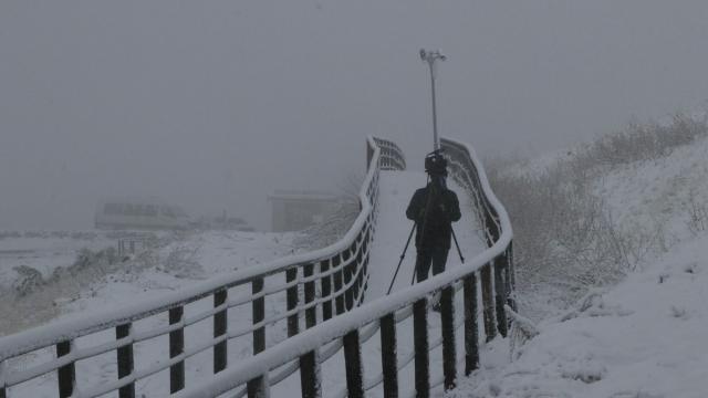 Göbeklitepe kar nedeniyle beyaza büründü