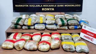 Konya'da 29 kilo uyuşturucu ele geçirildi: 4 gözaltı