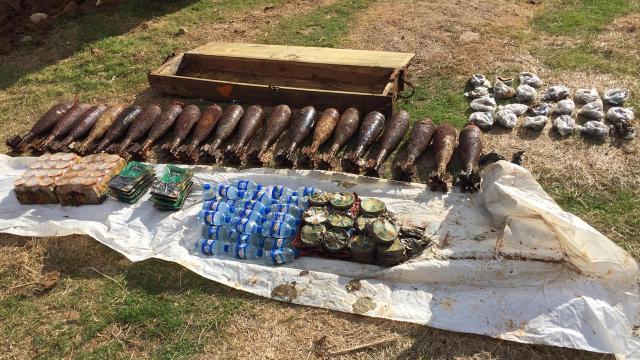 Tel Abyadda 262 kilo patlayıcı ele geçirildi