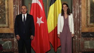Dışişleri Bakanı Çavuşoğlu, Belçikalı mevkidaşı Wilmes ile görüştü
