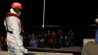 Balıkesir'de 38 düzensiz göçmen kurtarıldı