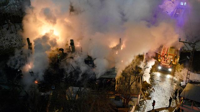 Gümüşhanede yangın: Bir ev kül oldu