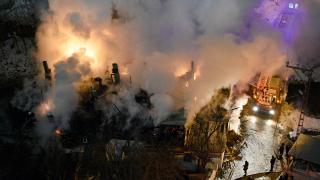 Gümüşhane'de yangın: Bir ev kül oldu