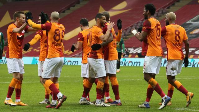 Galatasaraydan altı gollü galibiyet