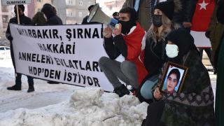 Terör mağduru aileler HDP önünde eylem yaptı