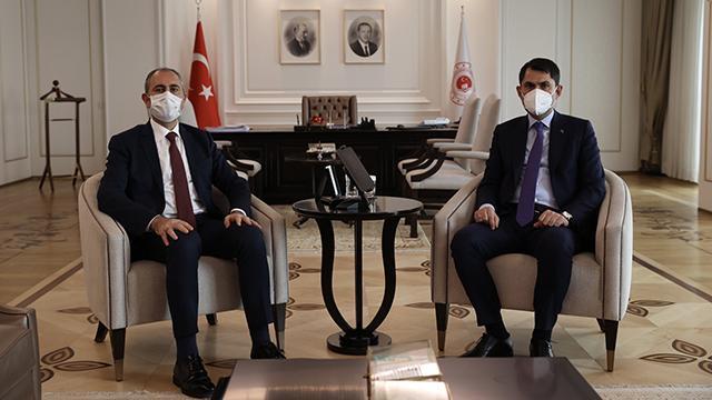 Kurum ve Gül Ankarada yapılacak yeni adliye binasını görüştü