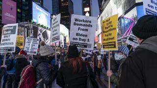 New York'ta ırkçılık karşıtı gösteri