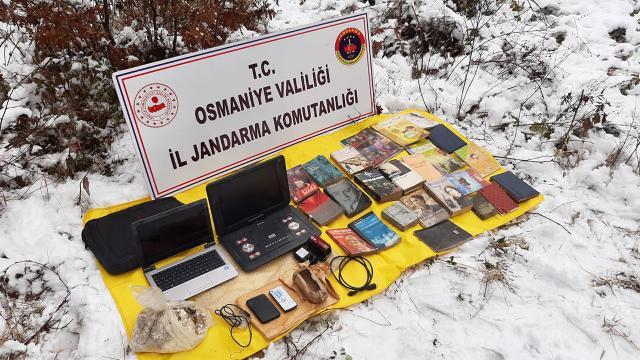 Amanoslarda PKKnın cephaneliği ele geçirildi