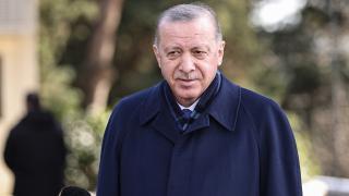 Cumhurbaşkanı Erdoğan, cuma namazını Kerem Aydınlar Camii'nde kıldı