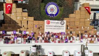 İstanbul'da 373 milyon liralık sahte parfüm operasyonu