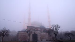 Sis nedeniyle Selimiye Camii gözden kayboldu