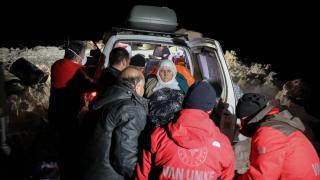 UMKE ekiplerin eksi 30 derecede hasta kadına ulaşma mücadelesi