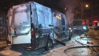 İstanbul'da park halindeki araç küle döndü