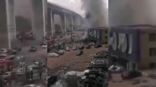 Çin'de doğalgaz hattında patlama