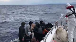 Muğla açıklarında 16 düzensiz göçmen kurtarıldı