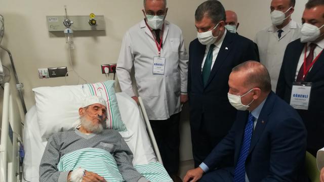 Cumhurbaşkanı Erdoğandan hastane ziyareti