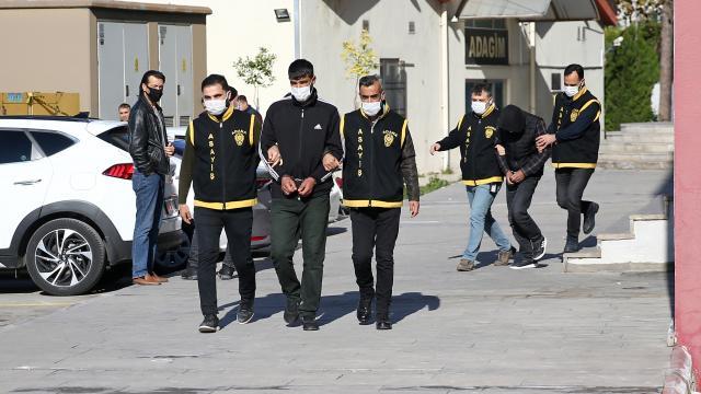 Adanada 15 ton mandalina çaldıkları iddiasıyla yakalanan 3 zanlıdan 2si tutuklandı