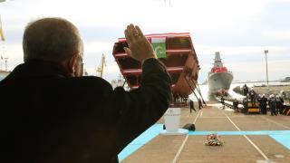 Milli fırkateyn 'İstanbul' denize indirildi