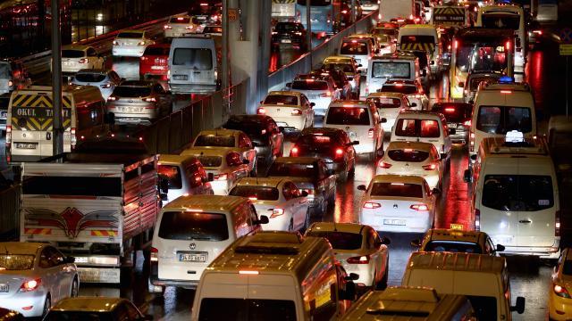 İstanbulda trafik yoğunluğu