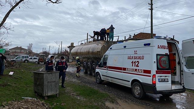 Kaynak yapılan akaryakıt tankeri patladı: 3 yaralı