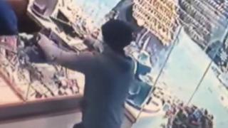 Çekmeköy'deki kuyumcu soygunu kamerada