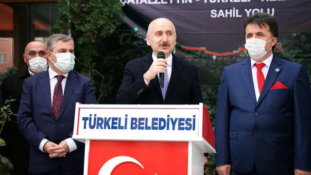 Bakan Karaismailoğlu, Sinop-Ayancık kara yolunda incelemelerde bulundu