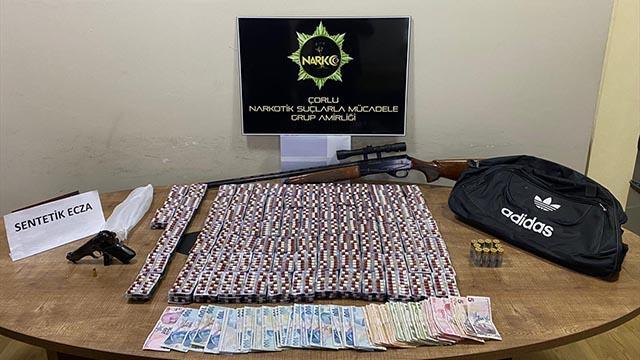 Tekirdağda 5 bin 264 uyuşturucu hap ele geçirildi