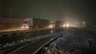 Edirne'de kar yağışı başladı