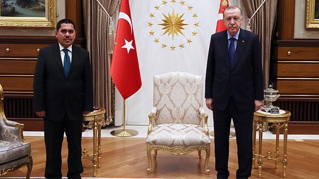 Cumhurbaşkanı Erdoğan, Afganistan Ulaştırma Bakanı Zekiyi kabul etti