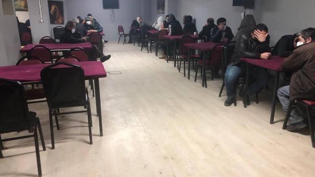 Eskişehirde kumar oynayan 63 kişiye 282 bin lira ceza
