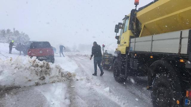 Gölcük ve Bozdağda kar yağışı etkili oluyor