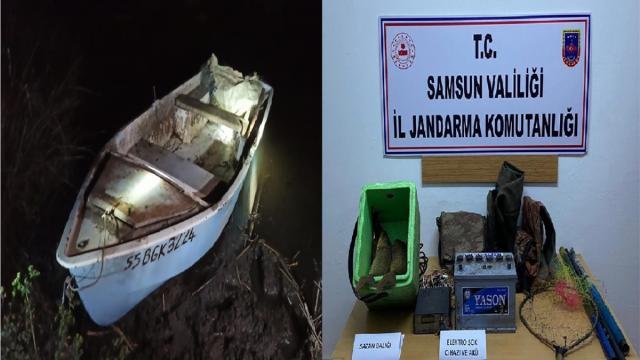 Samsunda kaçak balık avlayan 16 kişiye 65 bin 850 lira para cezası verildi