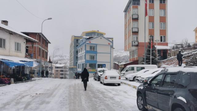 Sarıvelilerde kar yağışı