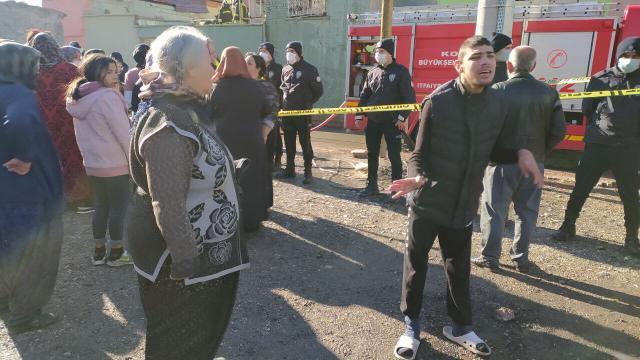 Konyada evde çıkan yangında 3 yaşındaki çocuk ile annesi öldü