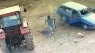 Mardin'de silahlı sopalı arazi kavgası kamerada