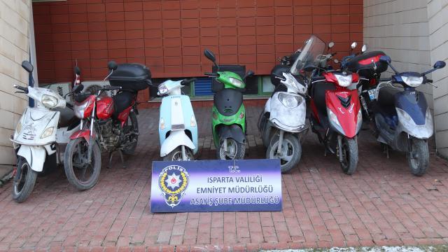 Ispartada motosiklet hırsızı tutuklandı