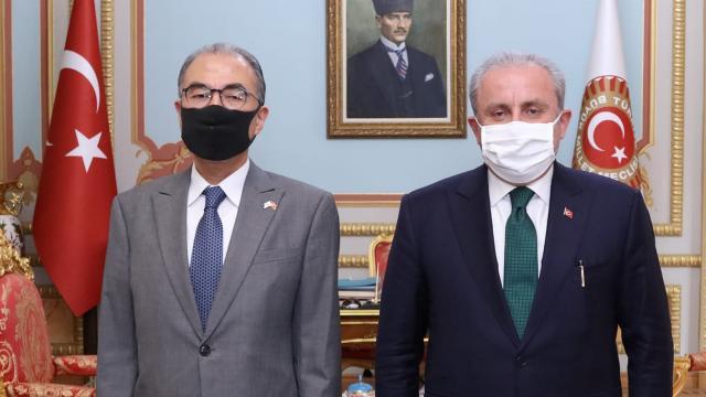 TBMM Başkanı Şentop, Japonya ve Bangladeşin Ankara büyükelçilerini kabul etti